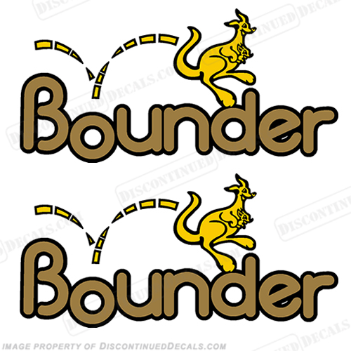 Bounder RV Decals (Set of 2) - Yellow/Gold