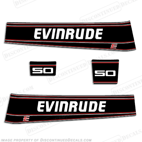 Evinrude 50hp Decal Kit 1993