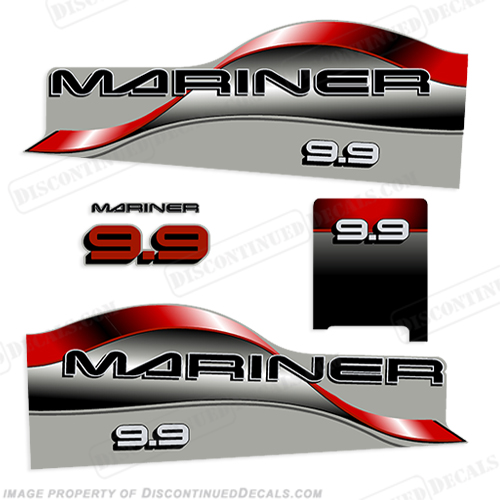 Mariner 9.9hp Decal Kit - Red