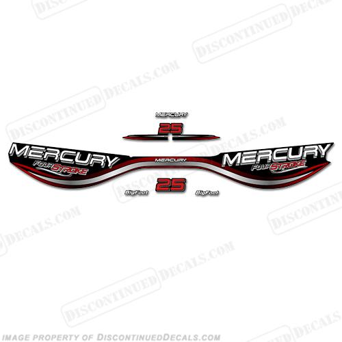 mercury 25hp fourstroke decals - 1998