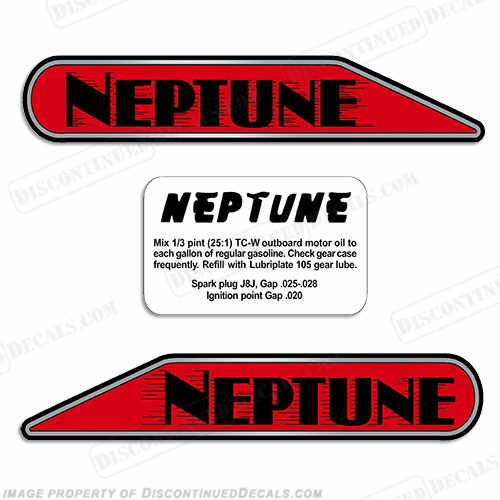 Neptune Outboard Decals For A1 Aa1 B1 11a4