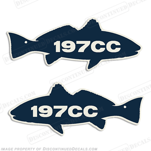 Sea Fox Decals - Blue fin boat decals