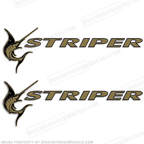 Seaswirl Striper Boat Logo Decals - Decals for boat trailersshorelander