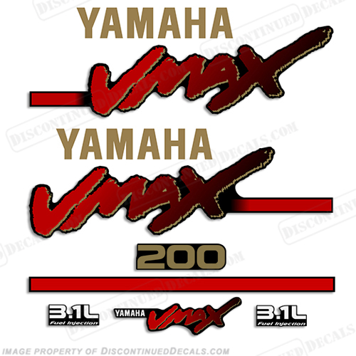 Yamaha 200hp vmax 3 1l ox66 decals for Yamaha vmax outboard review