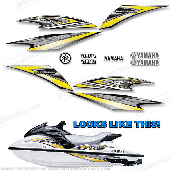 Yamaha 2005 gp800r pwc decals for Yamaha boat decals graphics