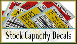 Stock Capacity Decals
