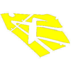 600RR Left Fairing Decals (Yellow)