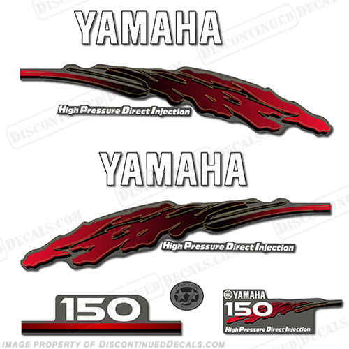 Yamaha 150hp hpdi decal kit 2001 for Yamaha boat decals graphics