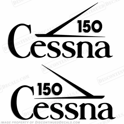 Cessna 150 Aircraft Logo Decals (Set of 2) - Any Color!