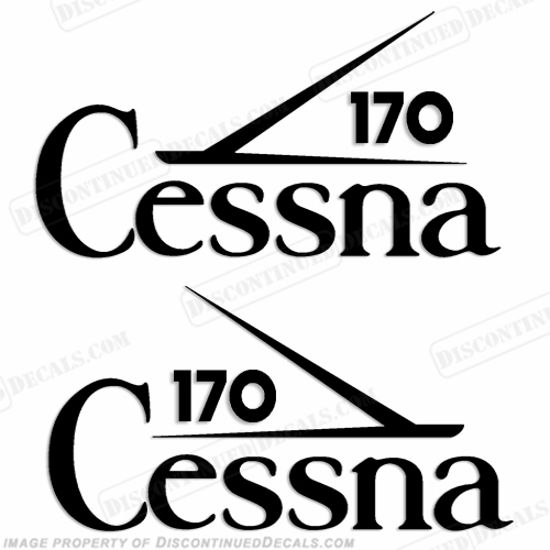 Cessna 170 Aircraft Logo Decals (Set of 2) - Any Color!