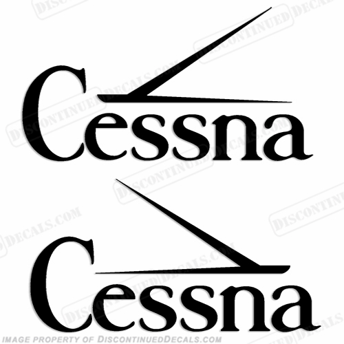 Cessna Logo Aircraft Decals - Style 1 (Set of 2) - Any Color!