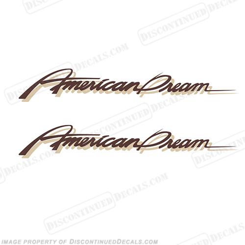 "American Coach ""American Dream"" RV Decals (Set of 2)"