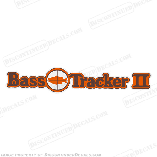 Bass Tracker II Target Boat Decal - 1970s 70, 70s, 2