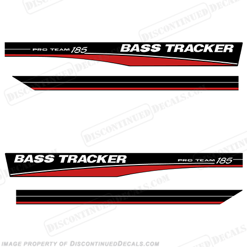 Bass Tracker Pro Team 185 Decals - Red