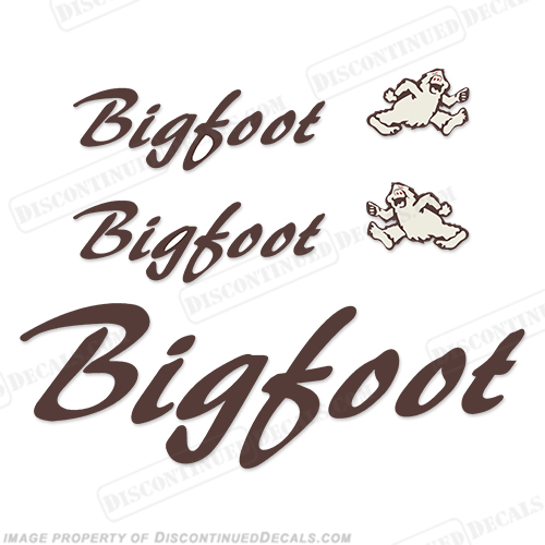 BigFoot RV Travel Trailer Decal Package big, foot, big foot, big-foot