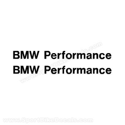 BMW Performance Logo Decal - All Colors!