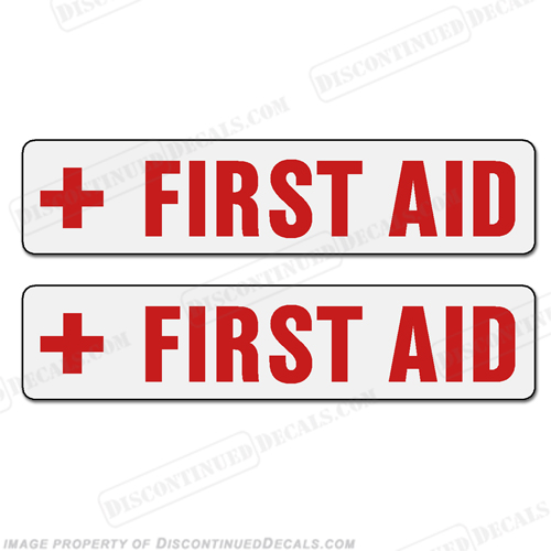 Boat Label Decals - First Aid (Set of 2)