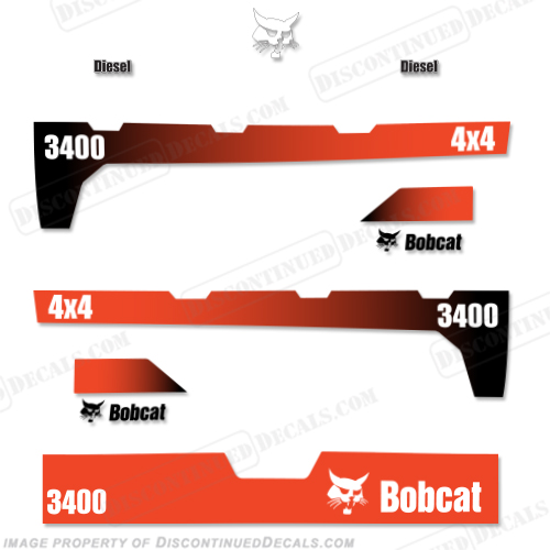 Bobcat 3400 Utility Vehicle UTV Decal Kit