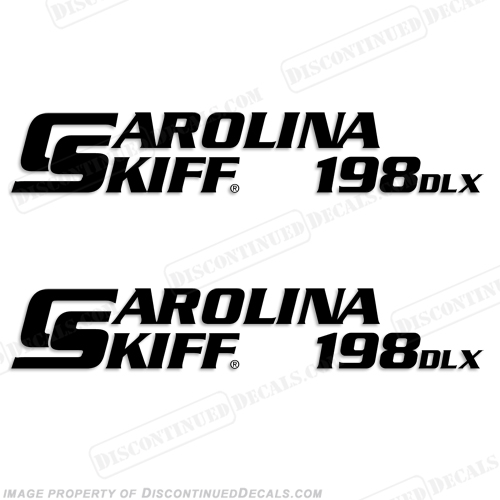 Carolina Skiff 198 DLX Boat Decals - (Set of 2) Any Color!