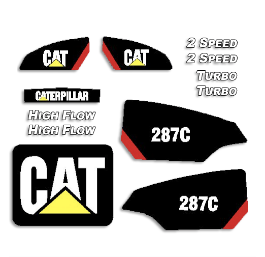 Caterpillar Decal Kits : Caterpillar c decal kit