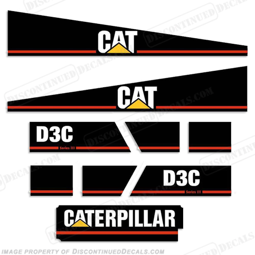 Caterpillar Decal Kits : Caterpillar d c equipment decals