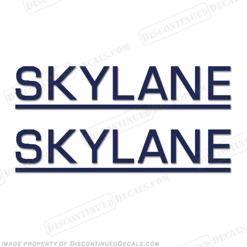 Cessna Skylane Decals - Style 2 (Set of 2) - Any Color!