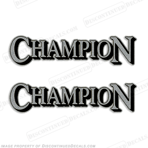 Champion Decals - Decals for boat seats