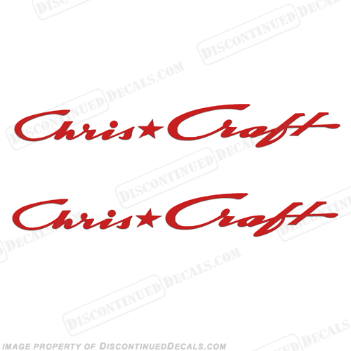 Chris Craft Boats Logo Decals - Any Color!