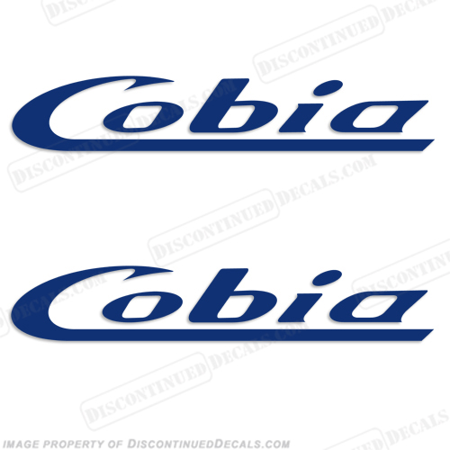 Cobia Boats Logo Decal (Style 2) Set of 2 - Any Color!