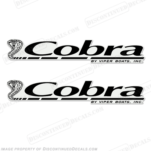 Cobra by Viper Boats Logo Decal (Set of 2) - Any Color!