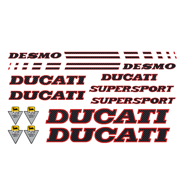 Ducati 900 Supersport Decal Kit - Carbon Fiber