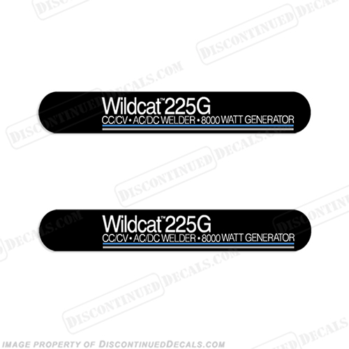 Miller Wildcat 225G Welder Decal Kit (Set of 2) 225 g