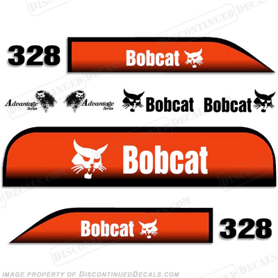Bobcat 328 Advantage Excavator Decals