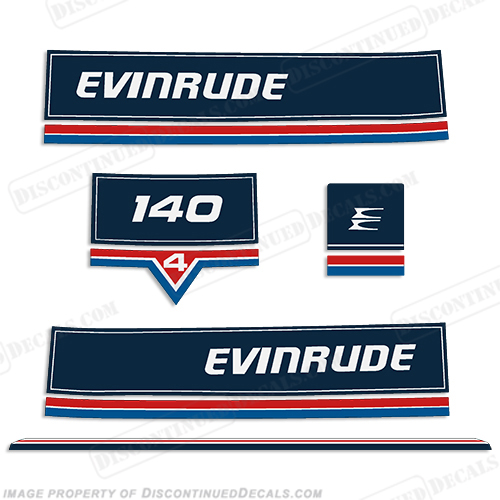 Evinrude 1983 140hp Decal Kit
