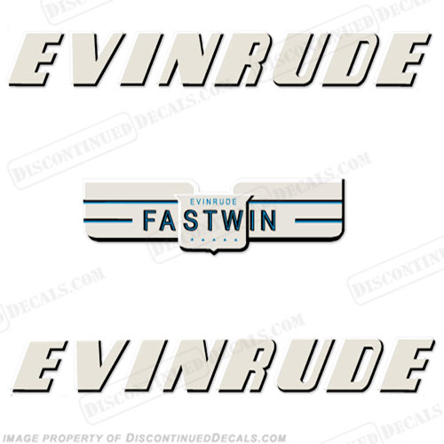 Evinrude 1950 14hp Decal Kit
