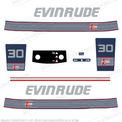 Evinrude 1990 - 1991 30hp Decal Kit