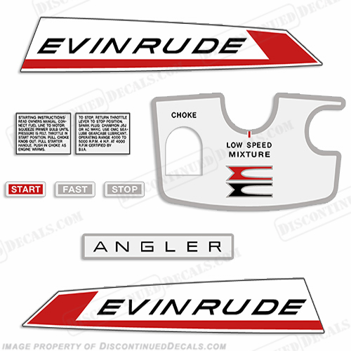 Evinrude 1967 5hp Decal Kit