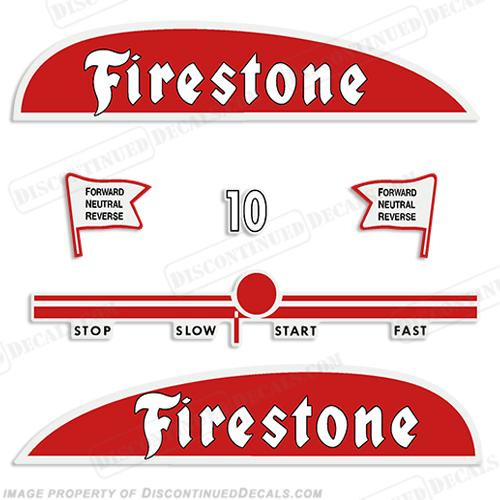 Firestone 1950 10hp Outboard Decal Kit