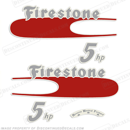 Firestone 1957 5hp Outboard Decal Kit firestone, outboard, decal, 5hp, 5, hp, 1957, 57, 57