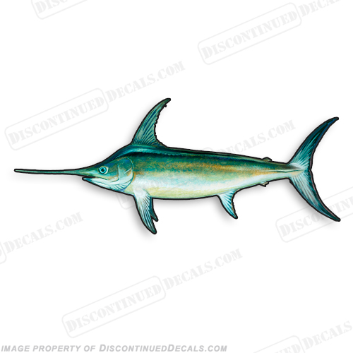 Swordfish Decal - 9""