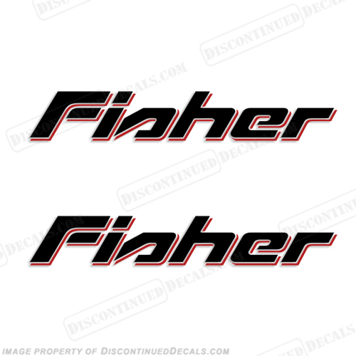 Fisher Boat Decals - 2 Color!