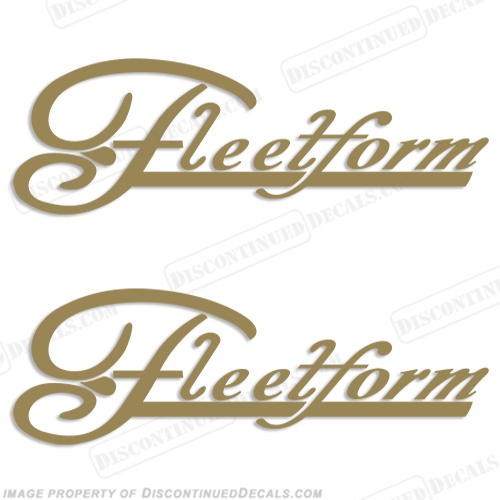 Fleetform Boats Logo Decals (Set of 2) - Any Color!