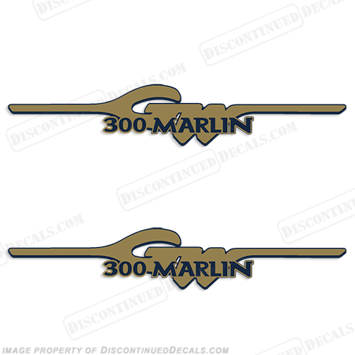 Grady White 300 Marlin Logo Decals