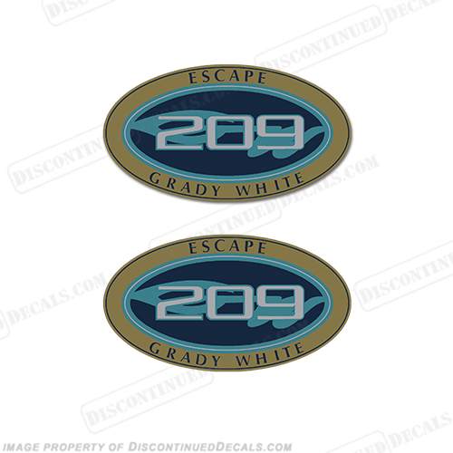 Grady White Escape 209 Logo Decals (Set of 2)