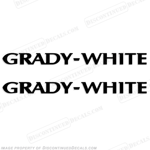 Grady White Boat Logo Decals - Any Color!