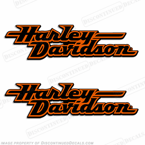Harley-Davidson Fuel Tank Motorcycle Decals (Set of 2) - Style 2