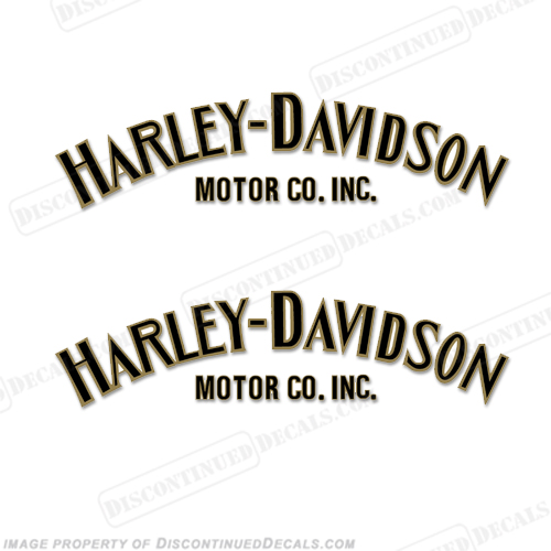Harley-Davidson Fuel Tank Decals (Set of 2) - Style 1 - Any Color