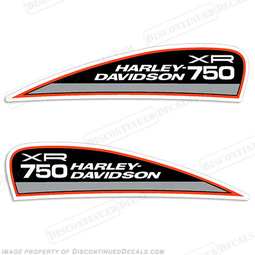 Harley-Davidson XR750 Fuel Tank Motorcycle Decals (Set of 2)