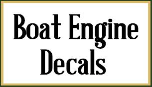 Marine Decals - Decals for boat motors
