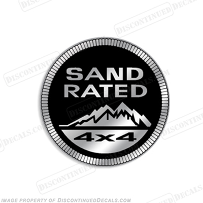 "Jeep ""Sand Rated 4x4"" Decal"
